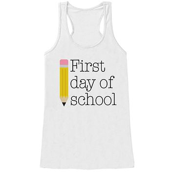 Funny Teacher Shirt - First Day of School Shirt - Teacher Gift - Teacher Appreciation Gift - Gift for Teacher Appreciation - White Tank Top