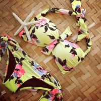 Low Waist Print Push Up Bikinis = 1838956164