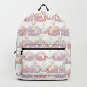 Happy Pastel Elephants Backpacks by Noonday Design