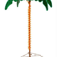 Rope Lighted Palm Tree - Shimmers With Holographic Leaves
