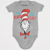 Dr. Seuss - Cat In The Hat Infant One Piece, Grey