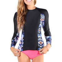 Printed Long Sleeve Rashguard *Seaglass