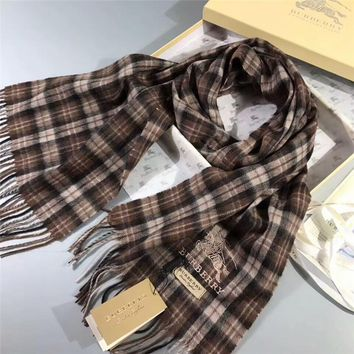 Best Online Sale Luxury Burberry Keep Warm Scarf Embroidery Scarves Winter Wool Shawl - Multicolor 1