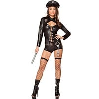 Ride Along Girl's Police Halloween Costume