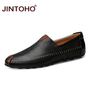 Man Genuine Leather Shoes Men Casual Shoes Leather Men Flats Adult Male Leather Shoes Men Loafers
