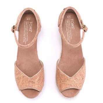 CORK GLITZ WOMEN'S ROPE PLATFORM WEDGES
