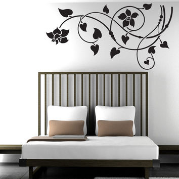 Vinyl Wall Decal Sticker Lily Vines #1505