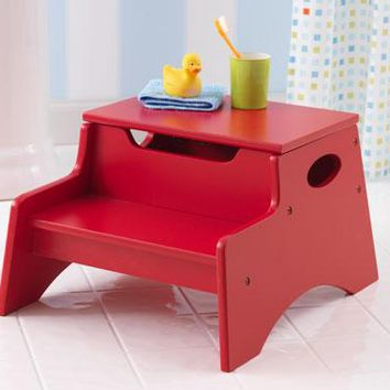 Step Up Stool Red Finish