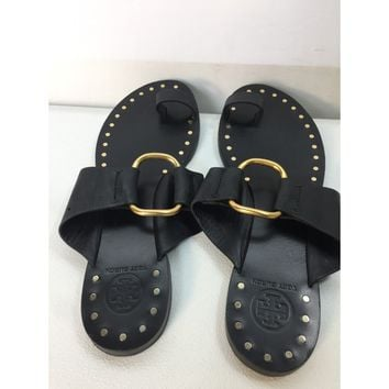 Used Tory Burch Women's Brannan Studded Leather Sandals, Size 7.5