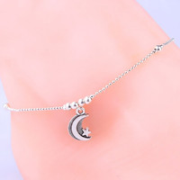 Fashion Silver Moon Star Anklet Foot Chain Soles Ankle Barefoot Bracelet = 5658253761