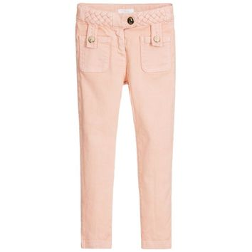 Chloe Girls Soft Pink Pants w/ Braided Details