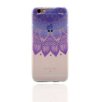 Purple Datura Lace Case for iPhone 6s 7 7Plus iPhone X 8 Plus & Gift Box