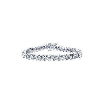 Diamond S Tennis Bracelet : Platinum - 1.00 CT Diamonds
