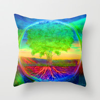 Tree of Life Miracles Throw Pillow by TreeofLifeShop