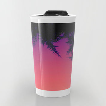 Peach, Pink, Purple Travel Mug by DuckyB (Brandi)