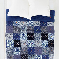 Noodle Indigo Patchwork Quilt - Urban Outfitters