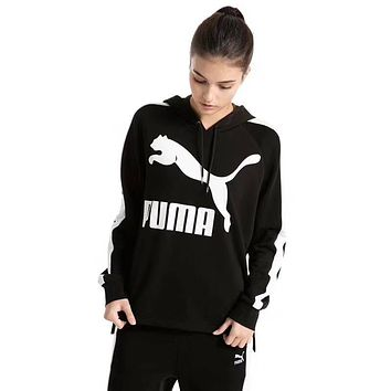 PUMA Women Fashion Cashmere Hooded Top Sweater Pullover Hoodie