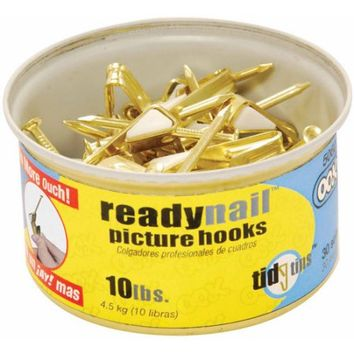 Hillman Group Inc-Ook 50606 10# ReadyNail Conventional Picture Hooks in Tidy - Walmart.com