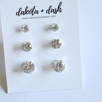 On Repeat Earring Set - Silver