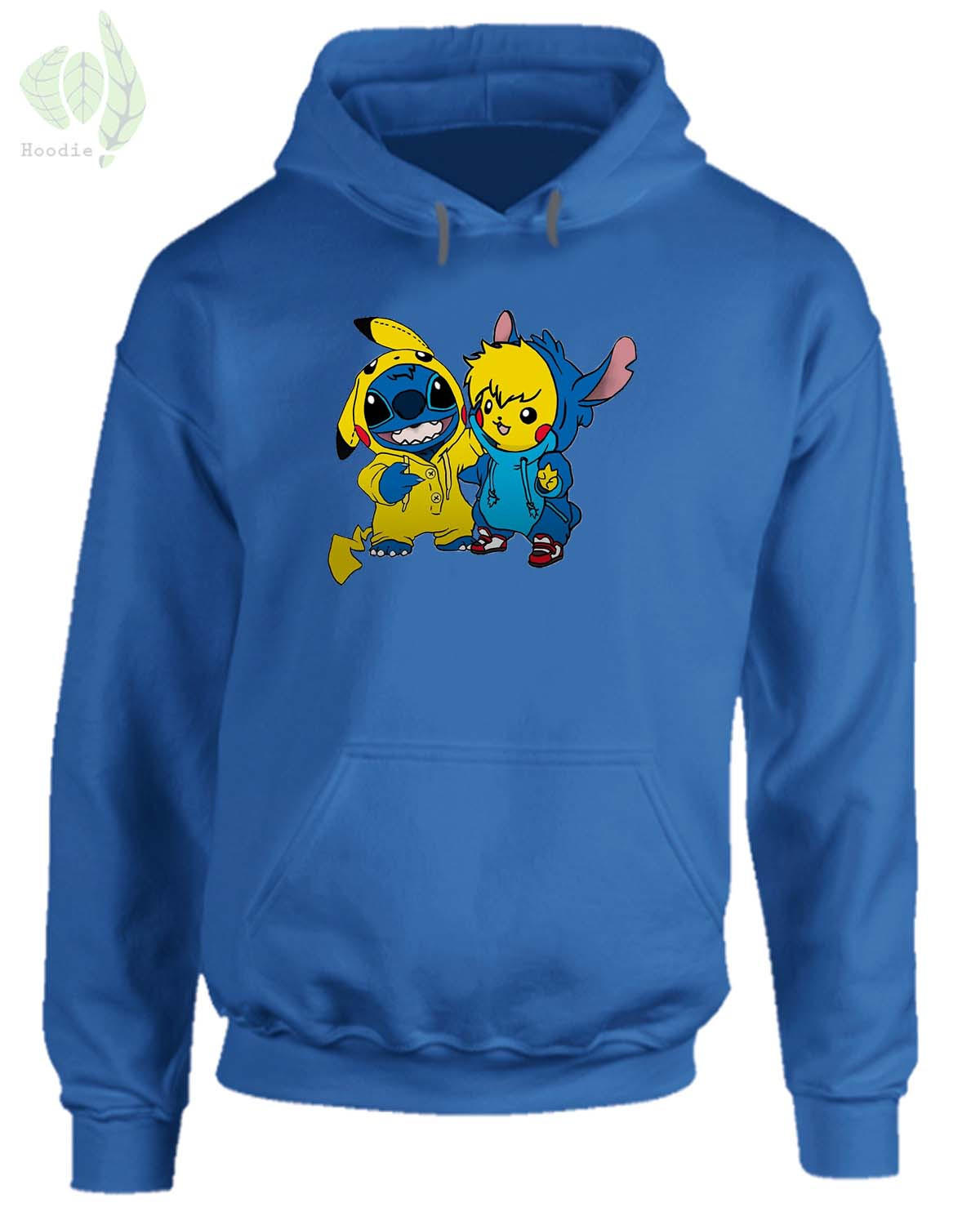 Pikachu And Stitch Hoodie From Tees Rocks Lilo And Stitch
