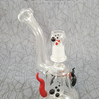 Mini Bubbler Oil Rig by SAF Glass