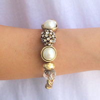Chained Pearls Bracelet