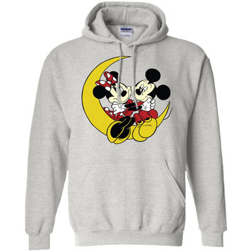 Merry Christmas and Happy New Year Mickey Mouse and moon  G185 Gildan Pullover Hoodie 8 oz.