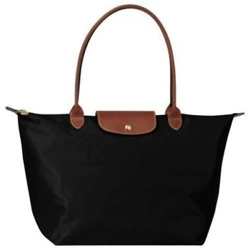 Longchamp Le Pliage Black Tote Bag L - Beauty Ticks