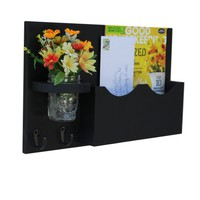 Mail Organizer -Mason Jar - Letter Holder - Mail and Key Holder