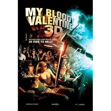 my bloody valentine poster Metal Sign Wall Art 8in x 12in