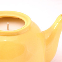 Vintage Retro Yellow Teapot Candle by CherryBlossomCandles on Etsy