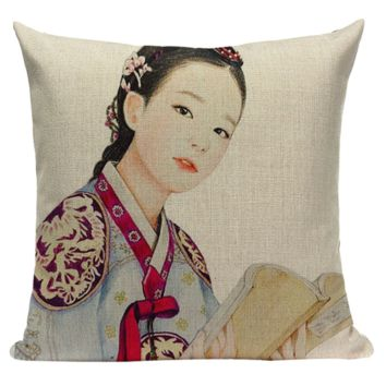 Japanese Geisha Book Pillow JP13