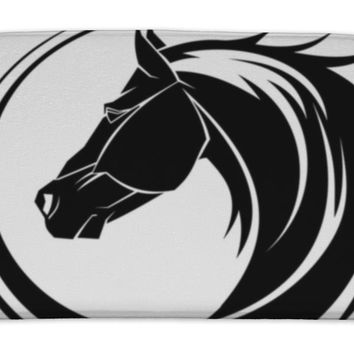 Bath Mat, Horse Circle Tribal Tattoo