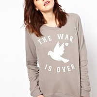 Zoe Karssen War Is Over Sweatshirt at asos.com