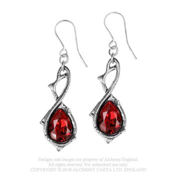 Alchemy Gothic Passionette Thorns & Teardrop Earrings