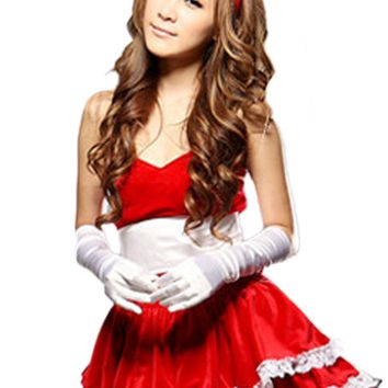 Atomic Red Bowed Bunny Costume