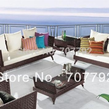 Turro Modern Patio Wicker outdoor furniture Sectional sofa set