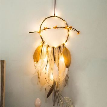 Indian Wasteland - Led Light Feather Dream Catcher