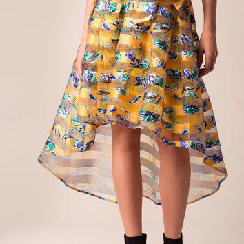 Gloria Floral Hi Lo Skirt