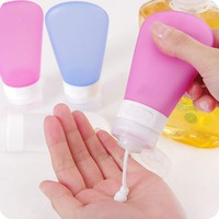 Portable Silicone Travel Bottles Shampoo Shower Gel Lotion Sub-bottling Tube Squeeze Storage Tool #72206