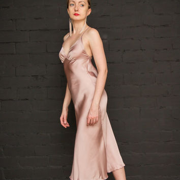 Milonga Tango Elegant Dress Sexy Cocktail Dress Delicate Pink Silk Сouture Evening Dress Prom Dress