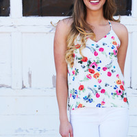 Oh, Watch Me Floral Tank