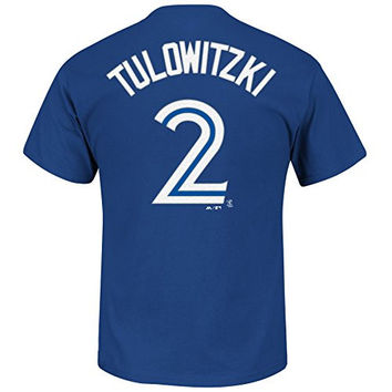 Troy Tulowitzki Toronto Blue Jays #2 MLB Youth Name & Number Player T-shirt (Youth Xlarge 18/20)
