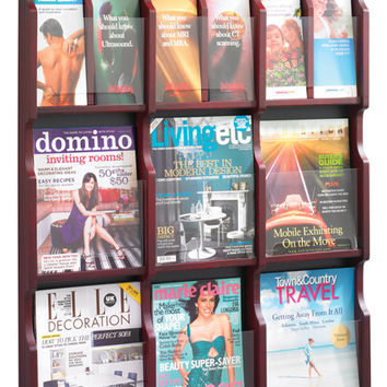 Safco Expose 9 Pocket Magazine/Pamphlet Display - 5702MH