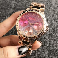 GUESS New diamond fashion dial shining colorful couples watch
