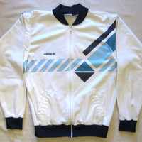 Vintage Rare 80s ADIDAS IVAN LENDL Argyle Tennis Polyester Acetate Small Jacket And Vest Combo