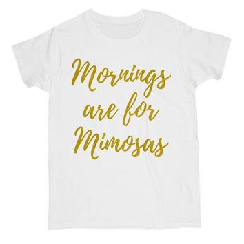 Mornings Are For Mimosas Shirt For Women Cute Brunch Tee