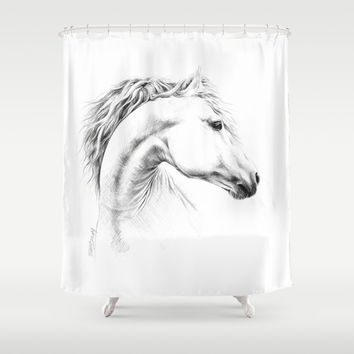 Horse Shower Curtain by EDrawings38