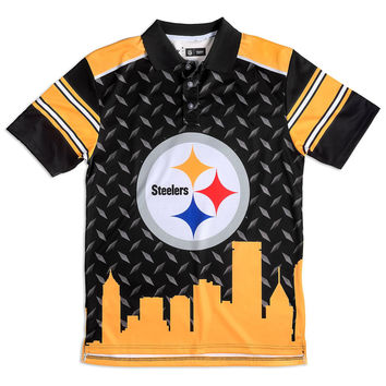 Pittsburgh Steelers KLEW Performance Thematic Polo Sizes M-XXL