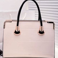 Fashion Simple Pure Color Rectangle Handbag